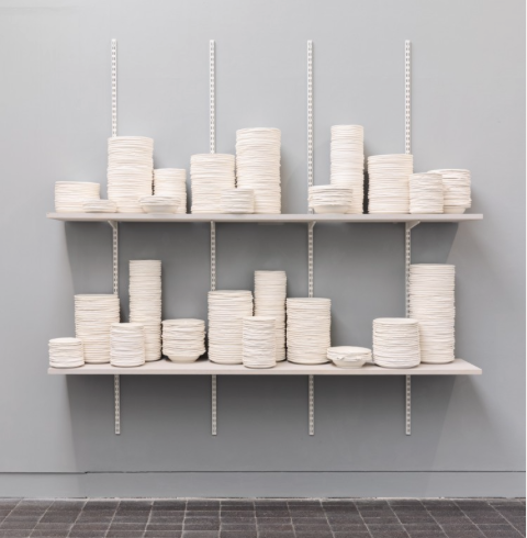 The work of British potter Ian McIntyre. Shown at Jerwood Open Makers 2015