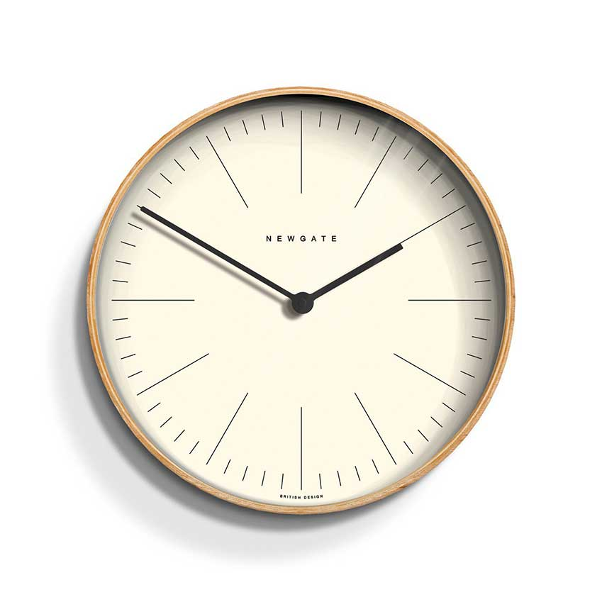 2. 'Mr Clarke' wall clock by Newgate, £60. This minimalist design is timelessly elegant and will look perfect displayed in any room of the house.