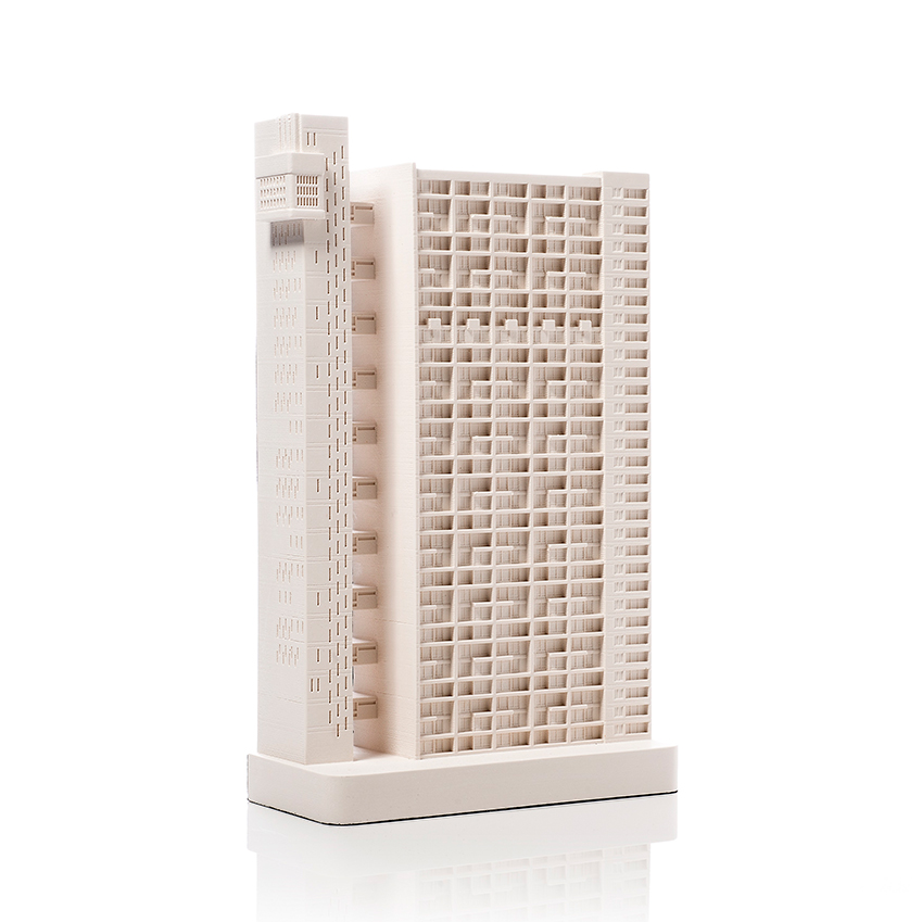 Chisel & Mouse's 'Trellick Tower' plaster model is just the gift for fans of Brutalist architecture. £150 (chiselandmouse.com)