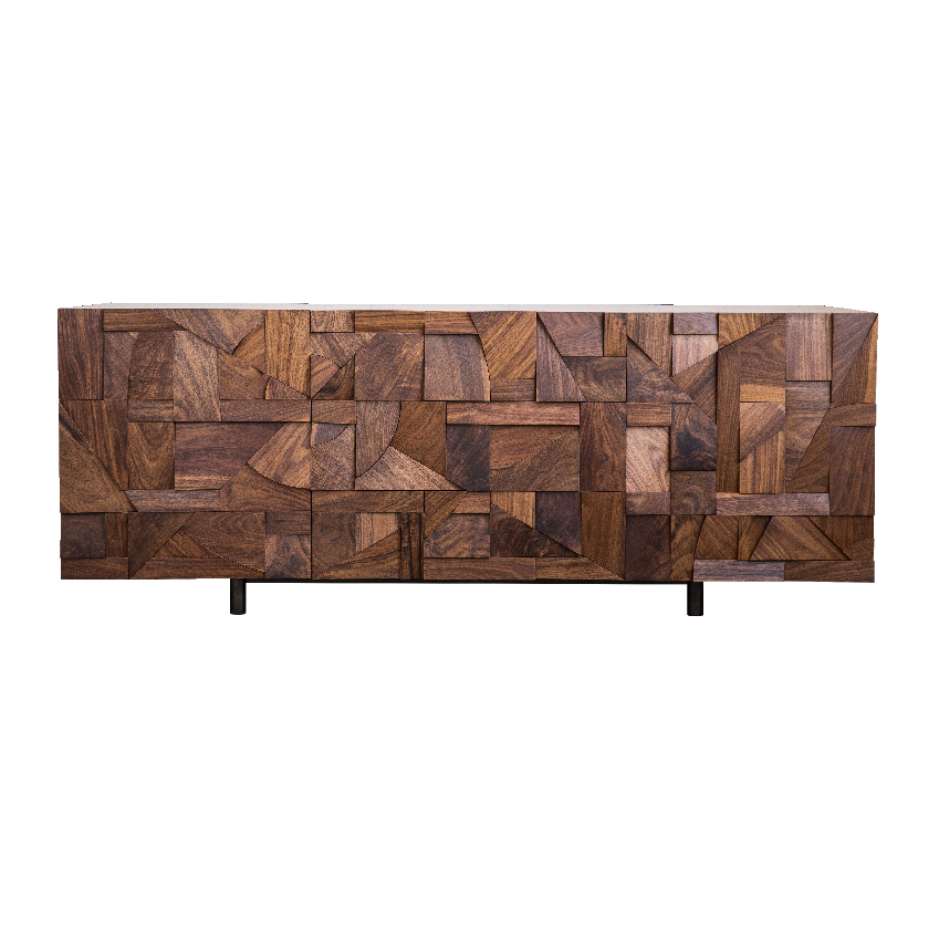 "Hazelnut Brown ""Relief Credenza"" sideboard, £11,504 by Todd St John. First featured in the February 2017 ""Trends"" issue of ELLE Decoration"