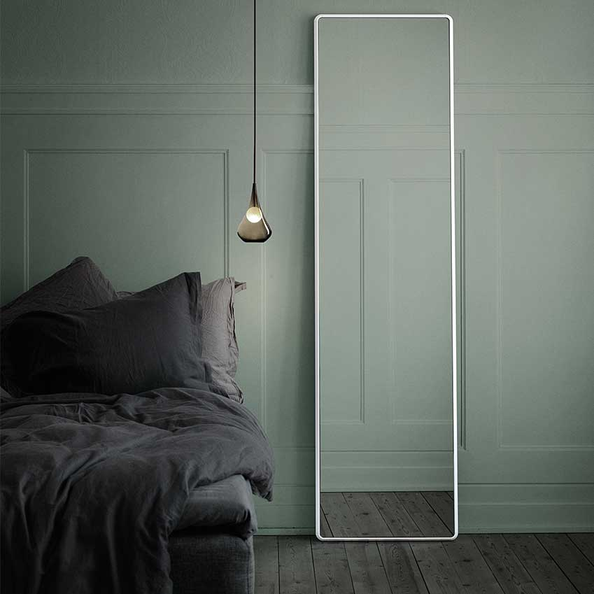 A simple mirror by Vipp to deflect bad Feng Shui!