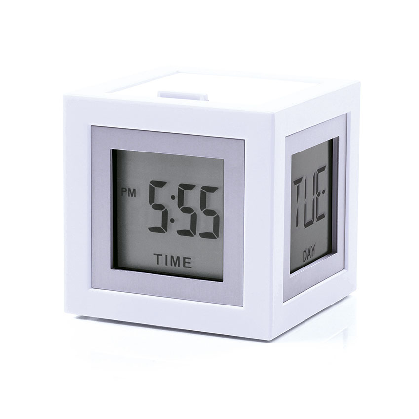 The High Street Hit 'Cubissimo' clock, £33, Lexon