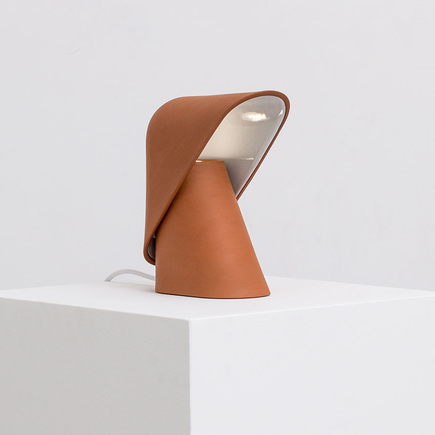 'K Lamp' in terracotta, £220, Vitamin