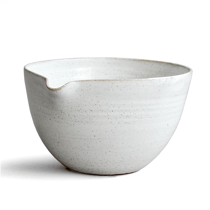 The New Design Icon 'Rustic Stoneware' mixing bowl in Snow White, £45, Nom Living