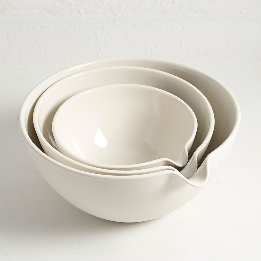 Or Blow the Budget Set of three mixing bowls by John Julian, £145, The New Craftsmen