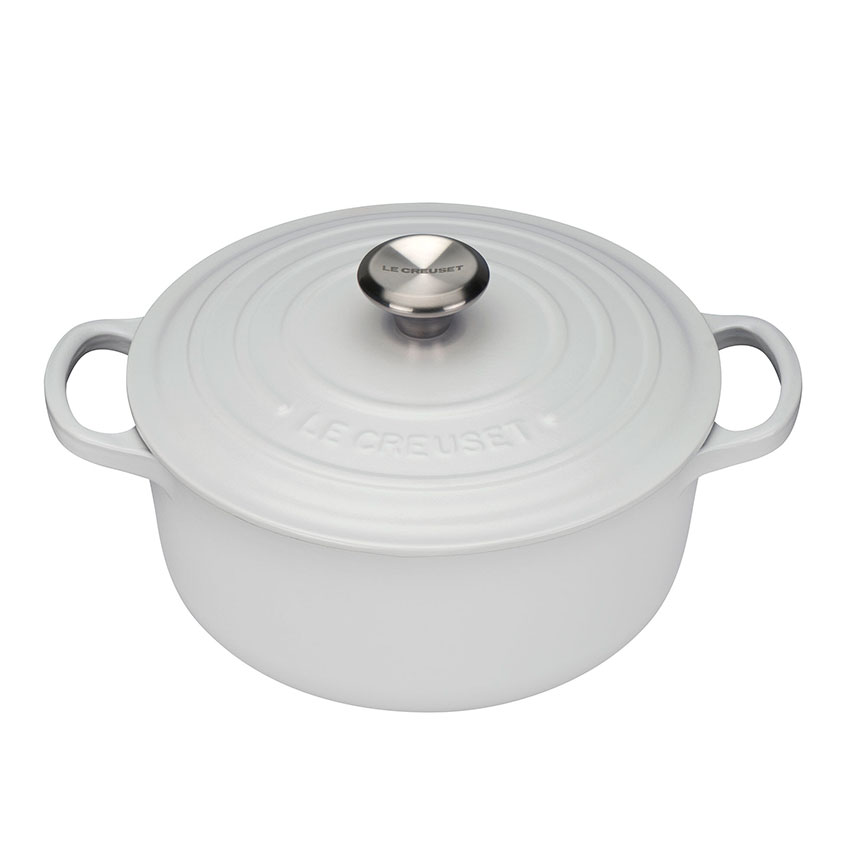 The Investment Piece Cast iron casserole dish in white by Le Creuset, £159, Selfridges