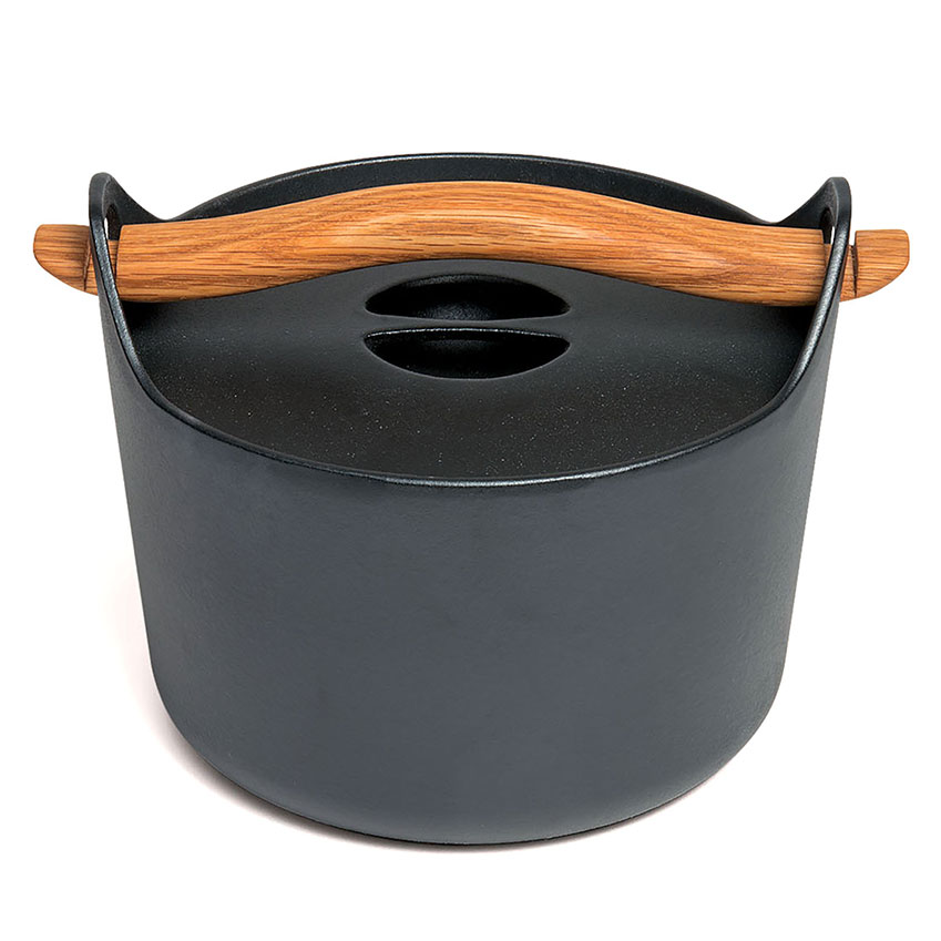 Or Blow the Budget Cast iron casserole dish in black by Timo Sarpaneva, £169, David Mellor Design