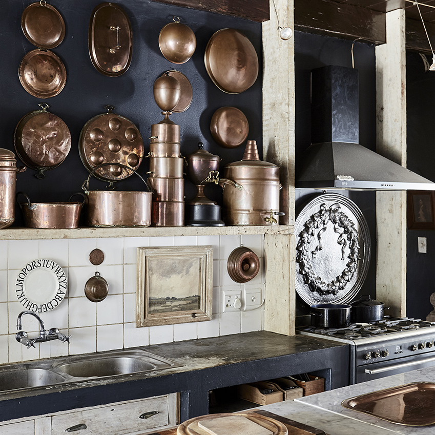 Copper kitchen accessories in South African kitchen