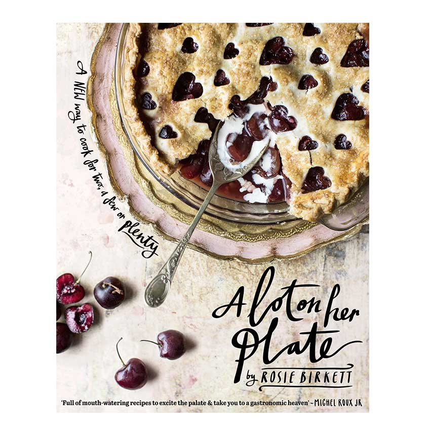 A Lot on her Plate by Rosie Birkett. Food writer Rosie Birkett's upbeat prose and imaginative yet approachable recipes make for a winning combination. With an emphasis on fresh seasonal flavours and healthy dishes, this is a cookbook for the wellbeing-minded. That said, there's also a selection of more indulgent recipes for when you hanker after something richer.