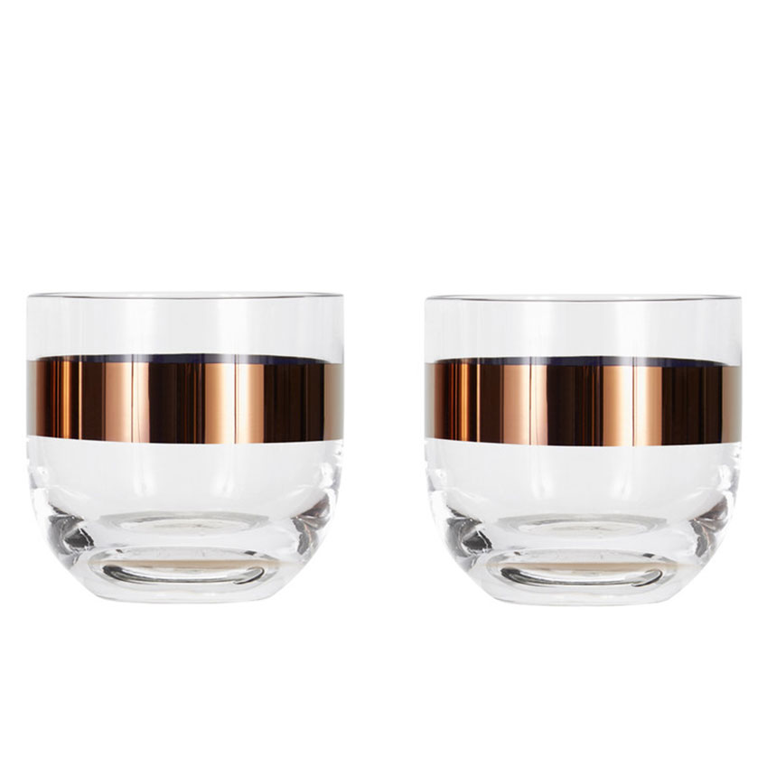 'Tank' whiskey glasses, £45, Tom Dixon