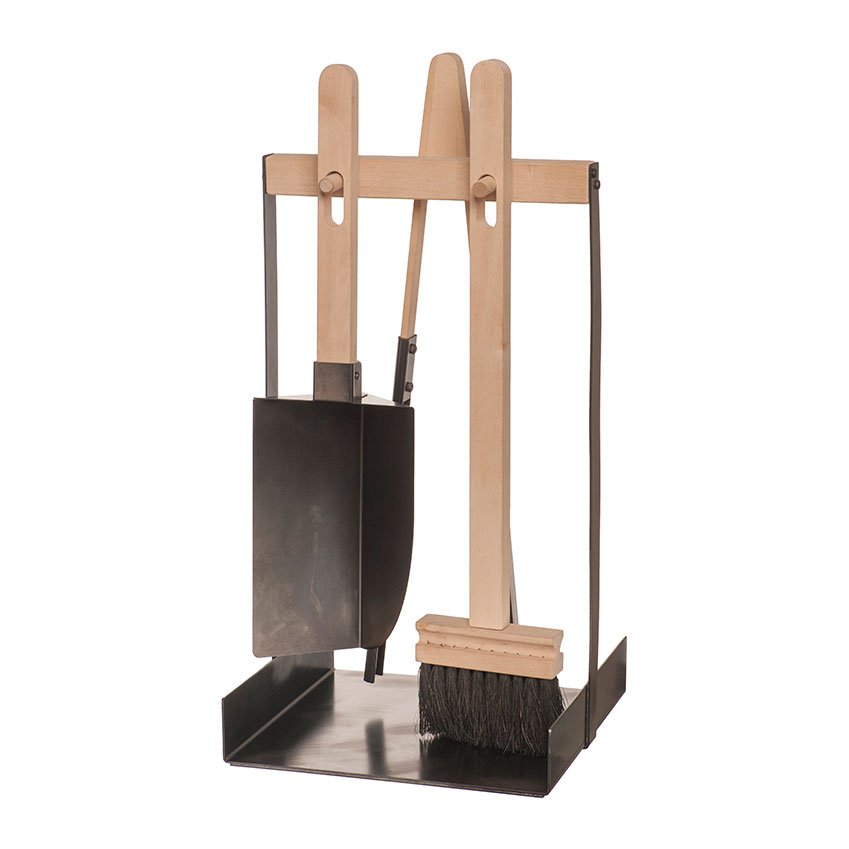 Fireplace tools set in birch by Iris Hantverk, £262, Amara