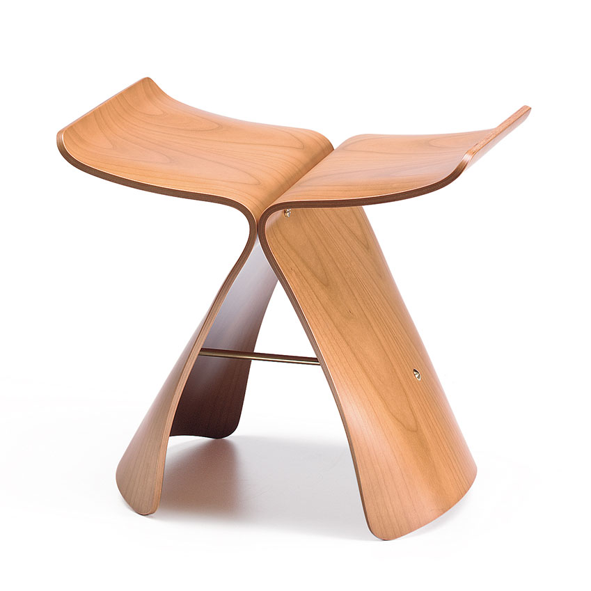 'Butterfly' stool in maple plywood designed in 1954 by Sori Yanagi for Vitra, £479, Heal's