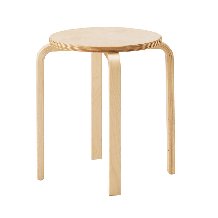 'Frosta' stool in birch, £8, Ikea