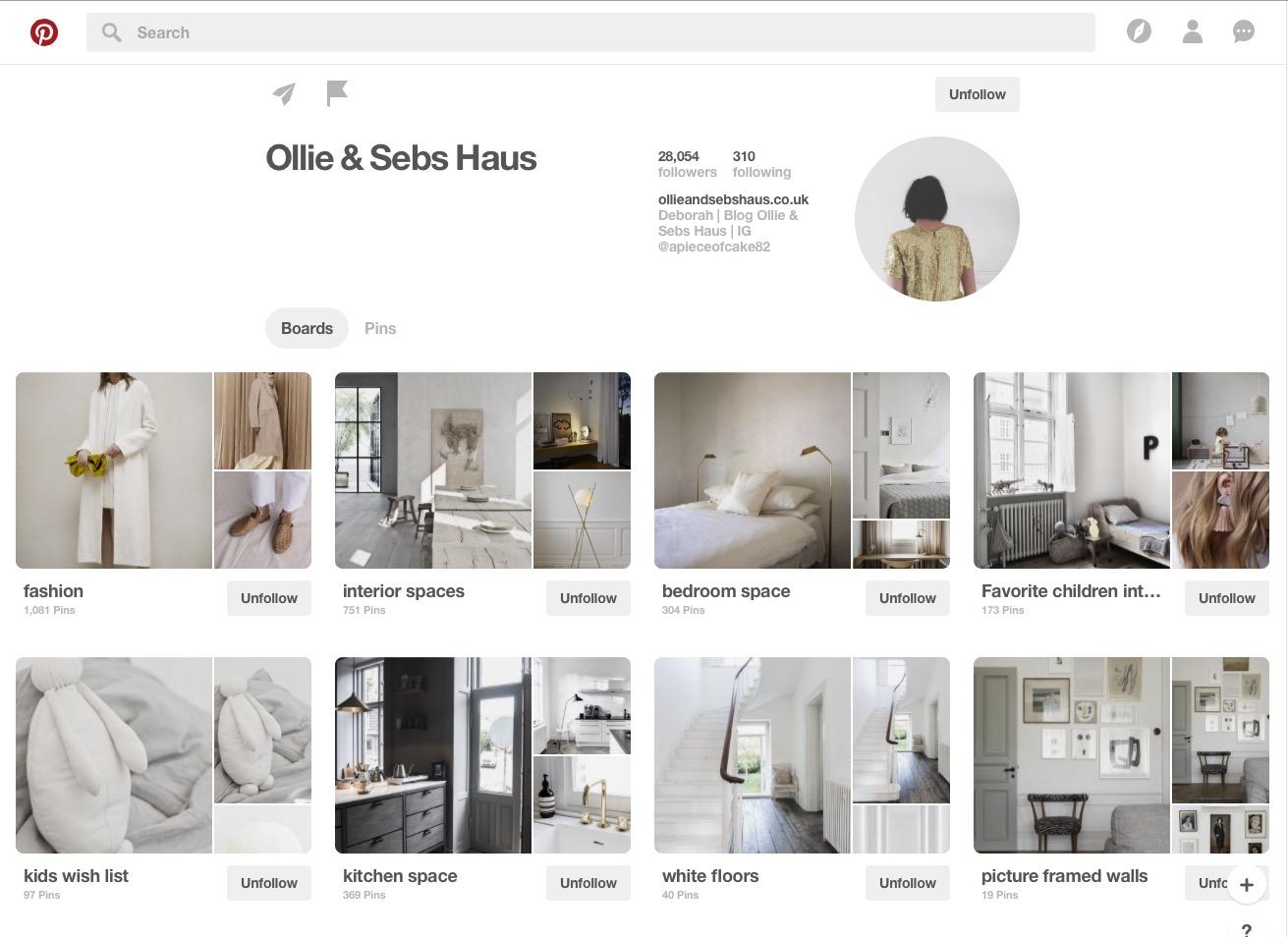 Ollie & Sebs Haus Pinterest Board
