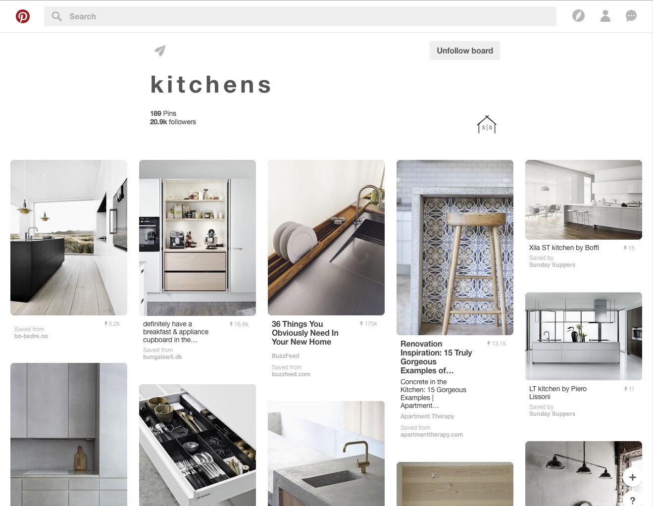 Sunday Suppers Pinterest board kitchens