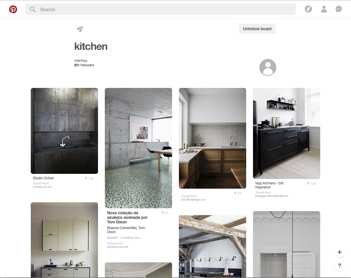 Suzanne Stankus Pinterest board kitchens