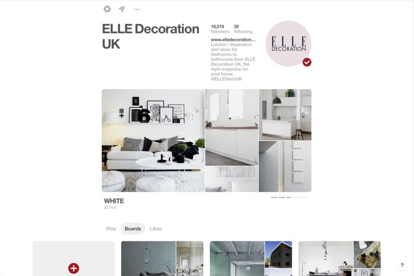 ELLE Decoration UK Pinterest board