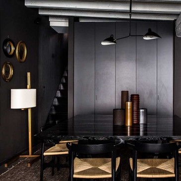 In this elegant apartment in Lyon, the owner decorated whole rooms in his favourite colour, black. FIrst featured in the February 2016 'Trends' edition of ELLE Decoration. Photography: Felix Forest/Living Inside