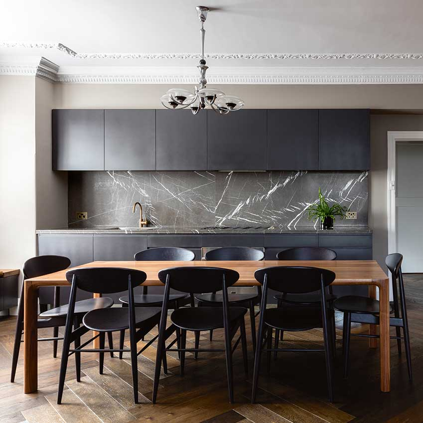 Elle Decor Kitchens dining room decoration ideas and design inspiration elle 019 elle Architect And Photographer Tom Ferguson Used A Bold Palette Of Monochrome And Wood In His Kitchen