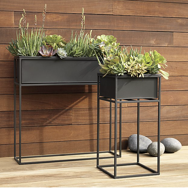 Houseplants 'Kronos' steel and iron planters, from £61 each, CB2 (cb2.com)