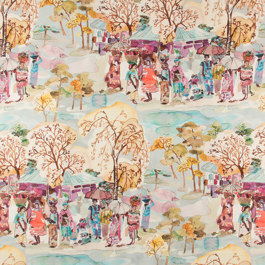 'Marché' fabric print by Zimmer + Rohde from the Spring/Summer 2017 collection.