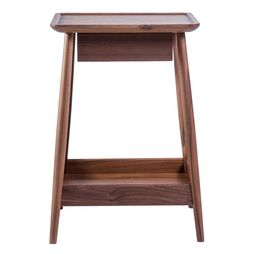 The 'Harlosh' bedside table in walnut by Russell Pinch, £865, The Conran Shop.