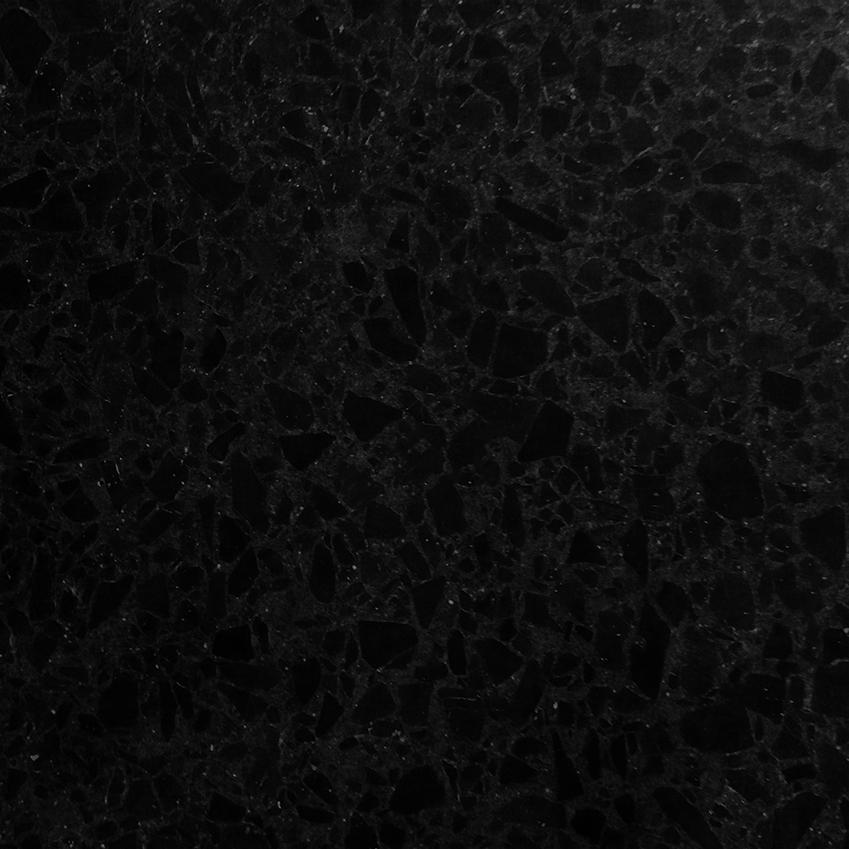 'TE012' black cement and marble terrazzo tile, £75 per sq m, Diespeker (diespeker.co.uk)