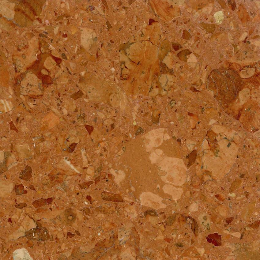 'Rosso Asiago' marble/resin-mix terrazzo tile by Marmi Scala, £27 per sq m, In Opera (in-opera.co.uk)