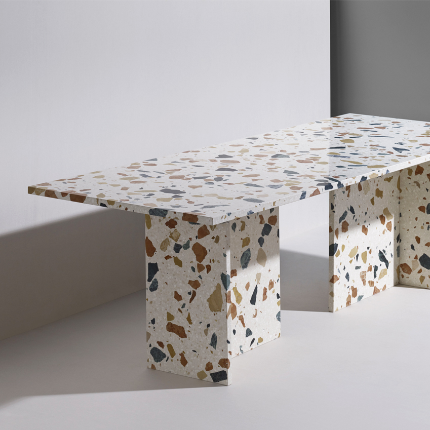 Terrazzo dining table by Max Lamb, £9,600, Dzek (dzekdzekdzek.com)