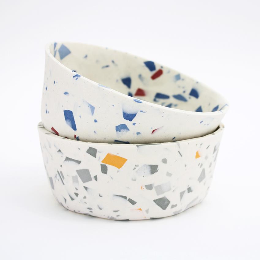 Terrazzo style Bowls by Sevak Zargarian, £120 each, 12 Thirteen Store (12thirteen-store.com)