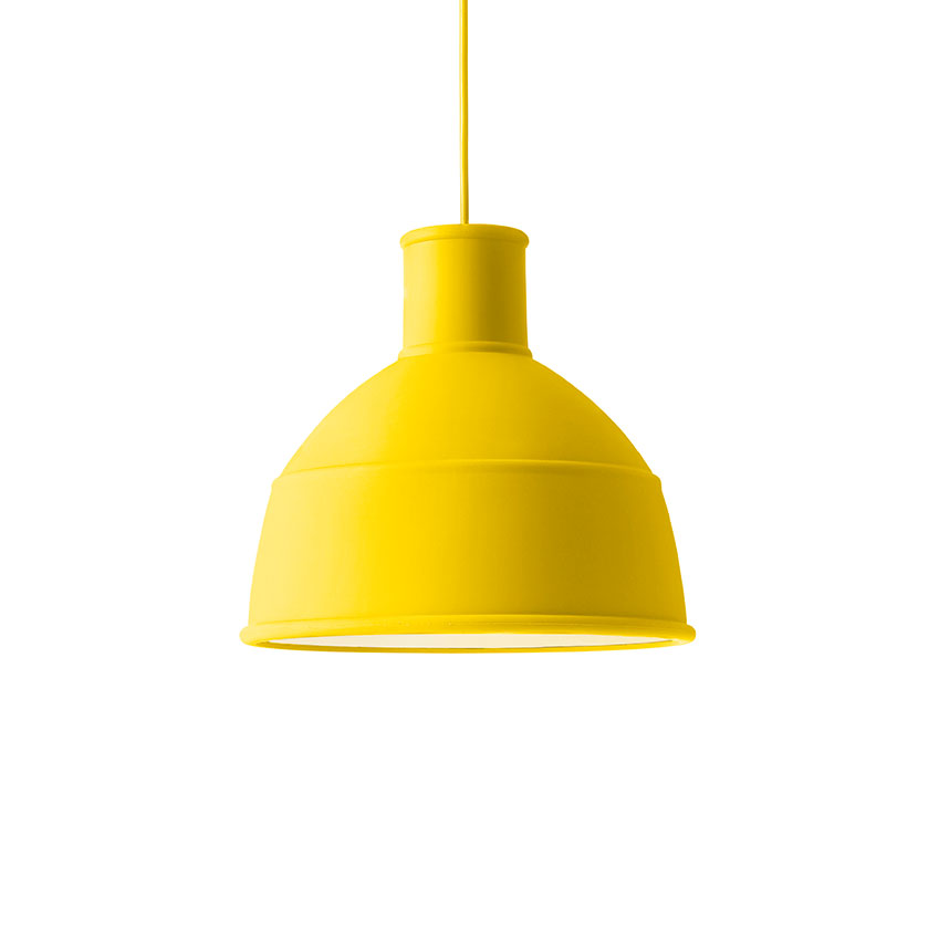 'Unfold' pendant light in yellow, Muuto