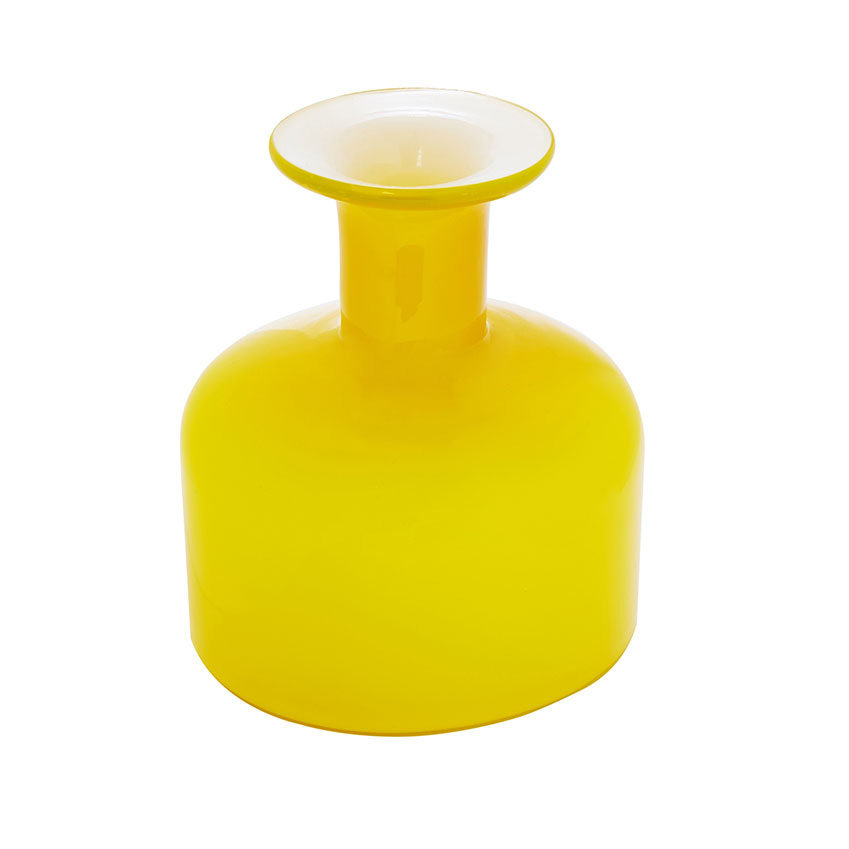 Hand blown yellow glass vase by Ben de Lisi, £12, Debenhams