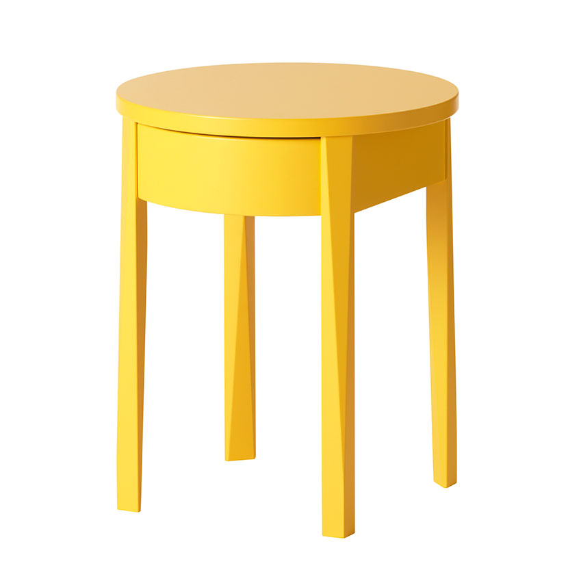 'Stockholm' bedside table in yellow, £70, Ikea