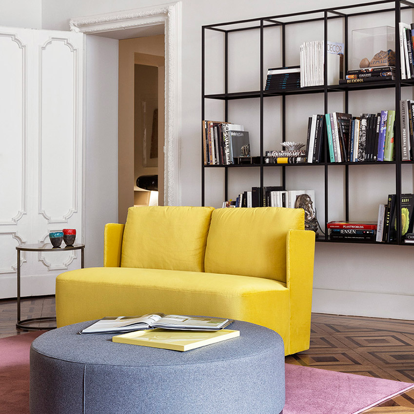 A gloriously yellow sofa from Meridiani.