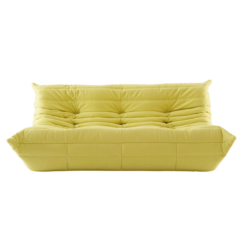 'Togo' large settee in yellow by Michel Ducaroy, £1985, Ligne Roset