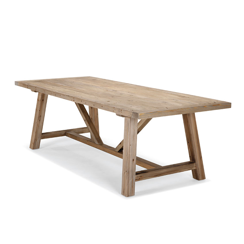 'Iona' dining table in solid pine, £599, Made.com