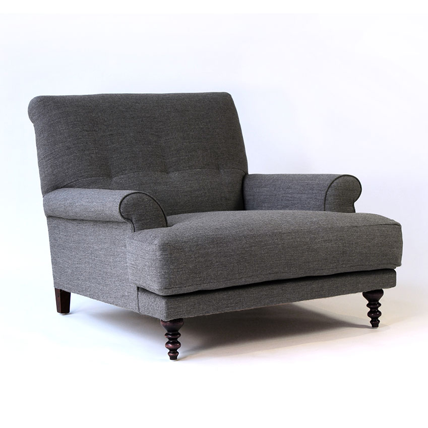 'Oscar' armchair by Matthew Hilton in 'Molly' fabric from Kvadrat, £2781, SCP
