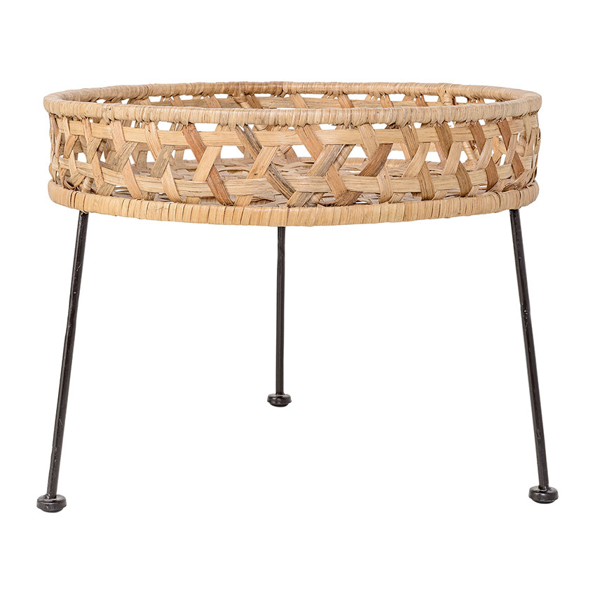 'Natural Rattan' side table by Bloomingville, £219, Amara