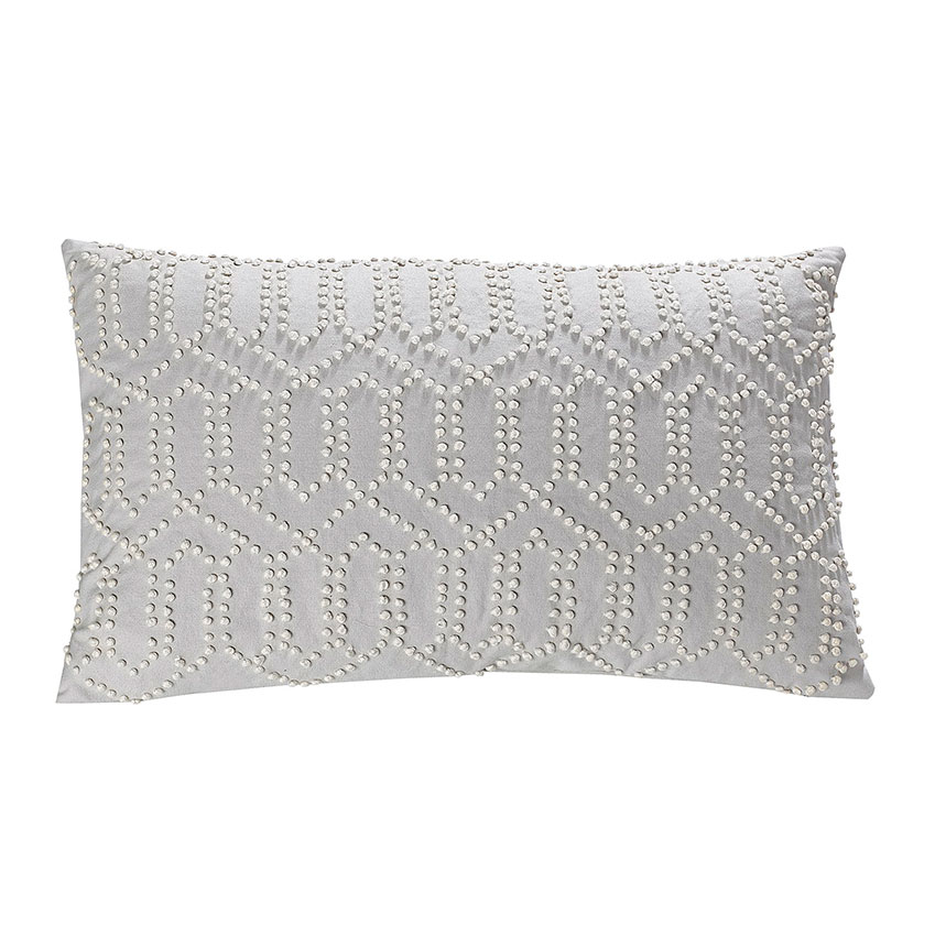 French Knot cushion in grey, £45, White Stuff