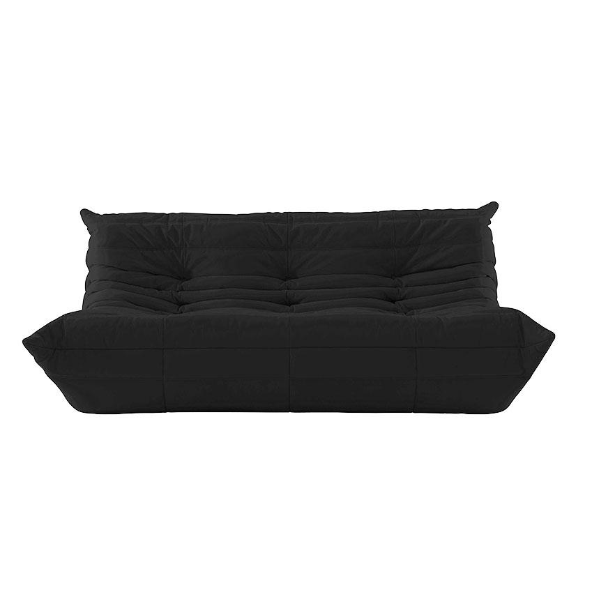 'Togo' large settee in black by Michel Ducaroy, £2049, Ligne Roset