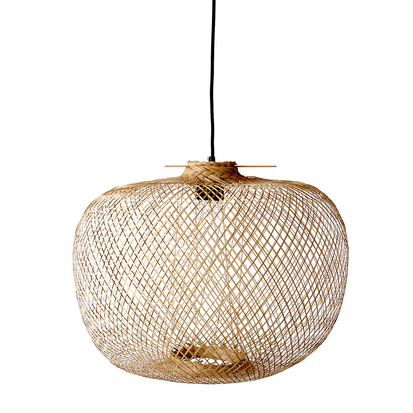 Bamboo pendant light by Bloomingville, £165, Pad Lifestyle