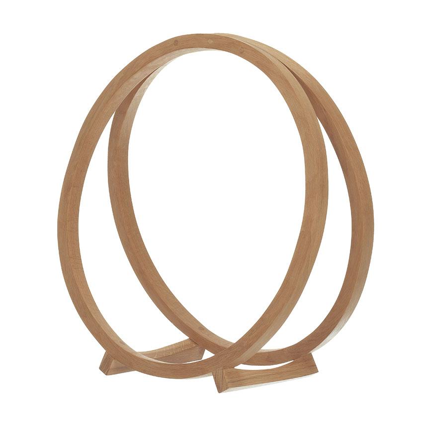 'Loop' oak log basket, £295, Tom Raffield