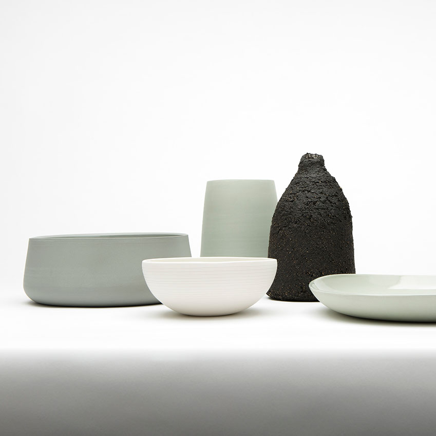 His functional ware is inspired by 12th to 17th Century Jingdezhen porcelain and modernist design as well as the vibrant colours of ancient Chinese monochrome porcelain used at the emperor's court.