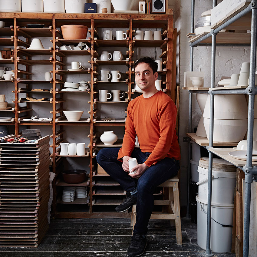 Having graduated from Camberwell College of Arts, followed by a four year apprenticeship with acclaimed potter Julian Stair, Billy has developed an innovative & ambitious style of working, marking him out as an emerging star in the pottery sector.