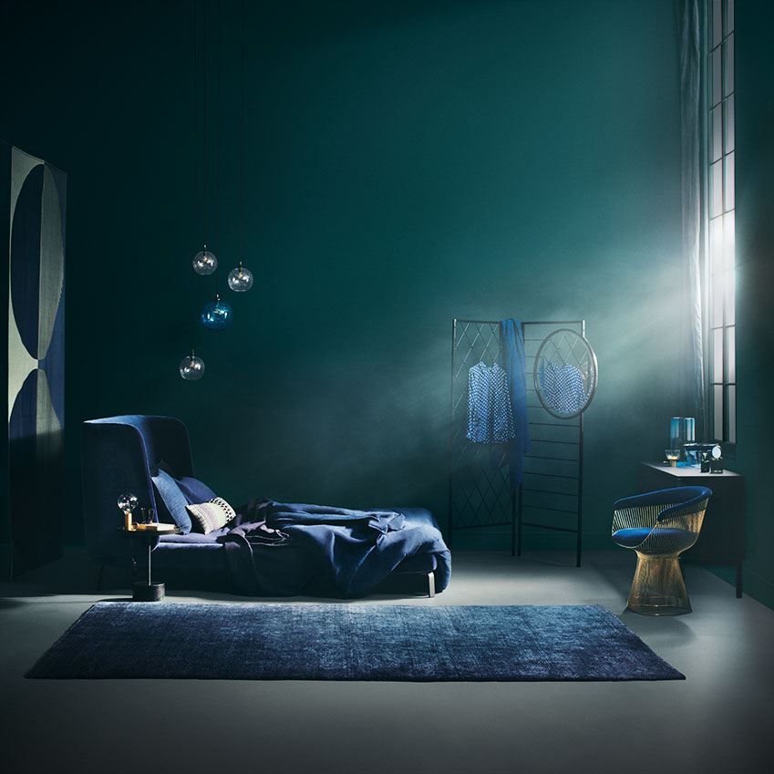 "Be inspired by the colours of the witching our, from midnight blue to navy via teal. Styling sane Pell; Photography Beth Evans. First featured in the November 2016 ""Bedrooms Special"" edition of ELLE Decoration."