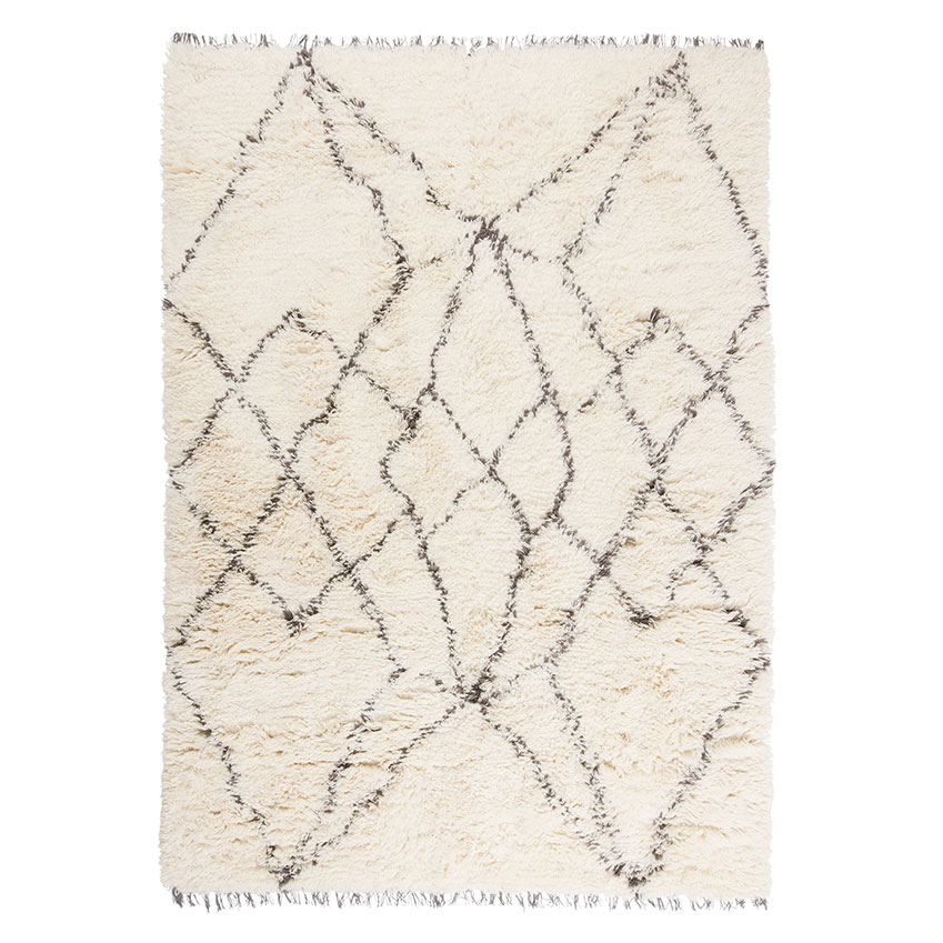 'Ruffle' rug in grey by Linie Design, from £419, Heal's