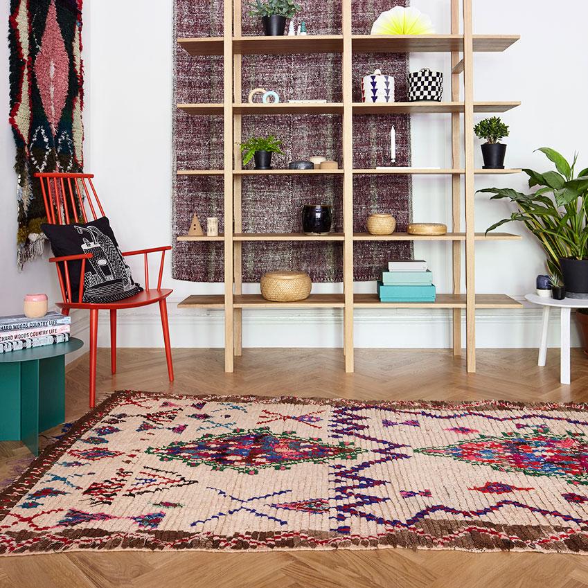 Vintage Moroccan Azilal rug, £780, Emilys House