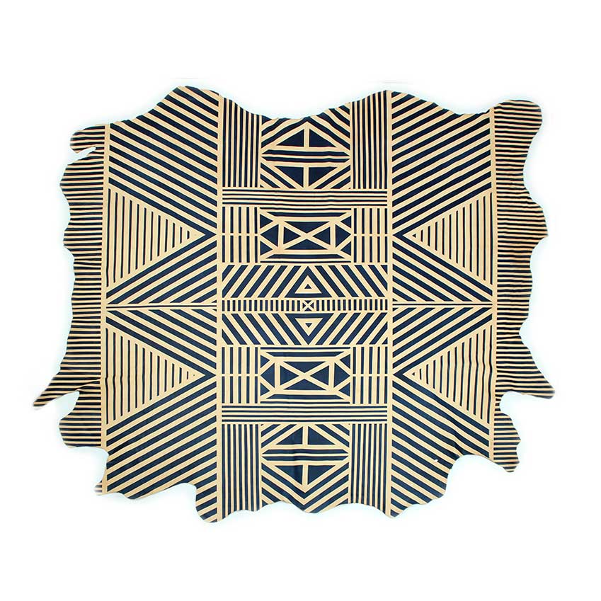 Hides: 'Geometric' rug by Avo, £2,210, Alice Lily Interiors