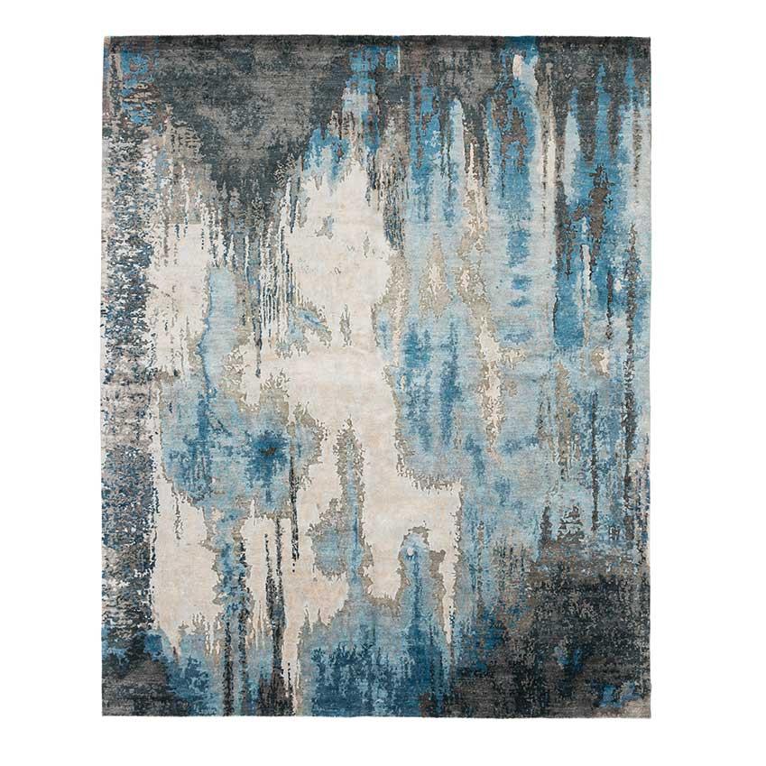 The Modern Canvas: 'Caverns Blue Steel' rug, £600, Tufenkian