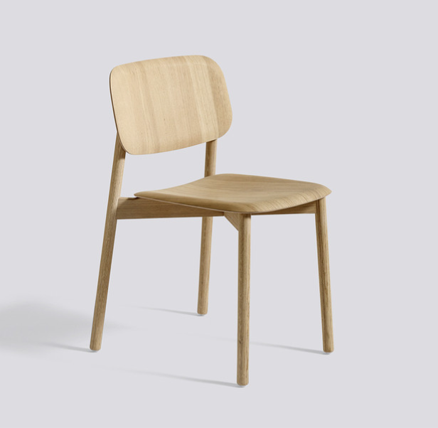 The 'Soft Edge' moulded oak plywood chair for HAY, £279 from Nest